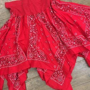 Faded Glory bandanna high low skirt XL